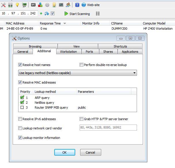 Monitor serial number (EDID) - Network Scanner Help