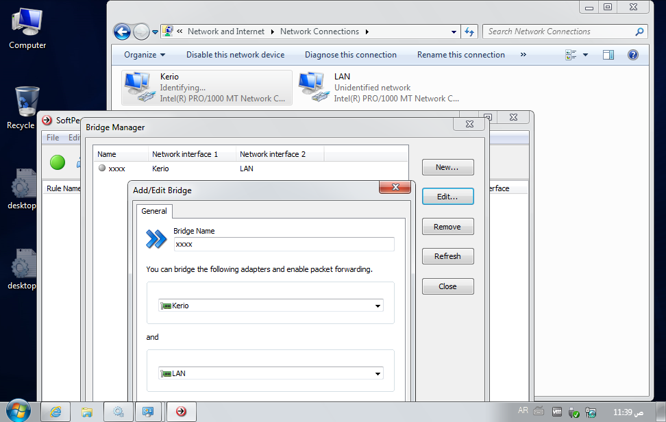 Bridging problem on VMware with Windows 7 - Bandwidth