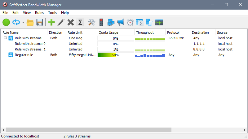 SoftPerfect Bandwidth Manager 3.2.6 Screen shot