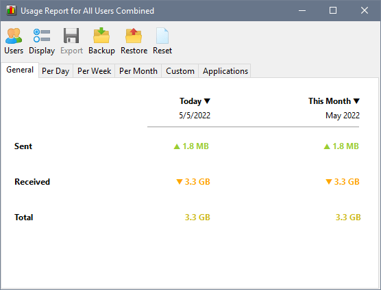 NetWorx v6.1.1 Screen shot