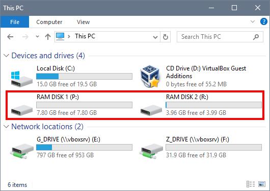 RAM Disks in Explorer