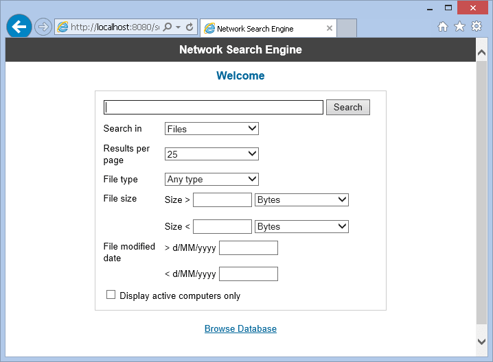 SoftPerfect Network Search Engine : LAN File Indexer And